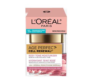 Image 2 du produit L'Oréal Paris - Age Perfect Cell Renewal hydratant teint rosé sans parfum, anti-âge, 50 ml, LHA + pivoine impériale