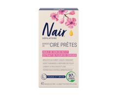 Image du produit Nair - Brazilian Spa Clay Bandes de cire prêtes visage/bikini, 40 unités