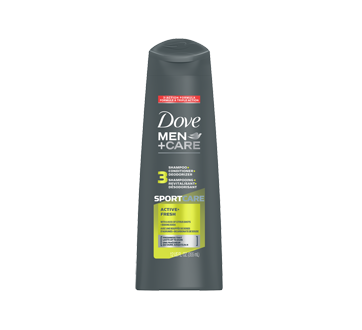Image du produit Dove Men + Care - Sport Care shampooing, revitalisant et désodorisant, 355 ml, Active + Fresh