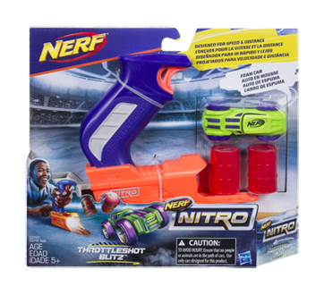 Nitro Throttleshot Blitz, 1 unité, orange et bleu