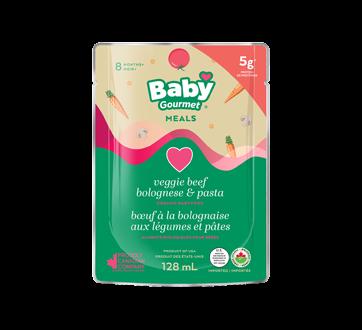 Nourriture biologique pour bébé, 128 ml, étoiles à la sauce bolognaise au bœuf et aux légumes
