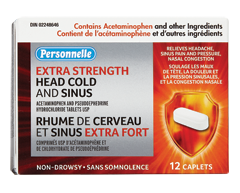 Image du produit Personnelle - Rhume de cerveau et sinus extra puissant, 12 caplets