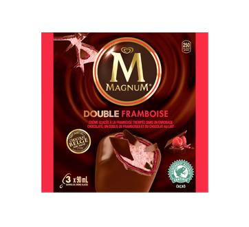 Barre de crème glacée framboise double, 3 x 90 ml