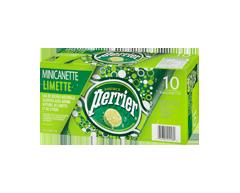 Image du produit Perrier - Eau de source naturelle gazéifiée lime, 10 x 250 ml