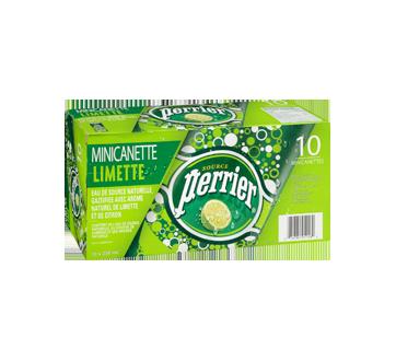 Image 2 du produit Perrier - Eau de source naturelle gazéifiée lime, 10 x 250 ml