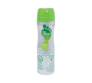 Image du produit Byly - Byrelax Forte déodorant anti-transpirant pour pieds en aérosol, 200 ml, menthe poivrée