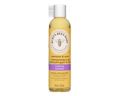 Image du produit Burt's Bees - Bébé shampooing et gel nettoyant pour le corps calmant, 235 ml, Arômes de lavande et de vanille