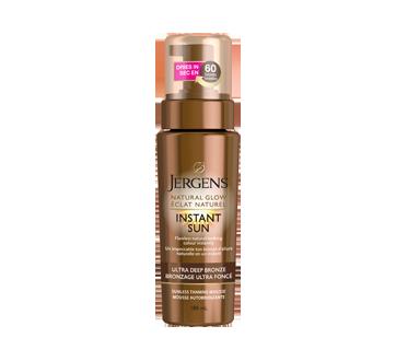 Éclat naturel, Instant Sun mousse autobronzante éclat naturel, 180 ml, bronzage ultra foncé