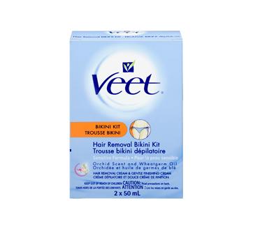 Image 3 du produit Veet - Trousse dépilatoire bikini, peau sensible, 50 ml