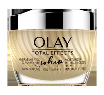 Total Effects Whip mousse hydratante non parfumée pour le visage, 50 ml