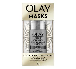 Masque en bâton d'argile désintoxication des pores pour le visage au charbon noir, 48 g