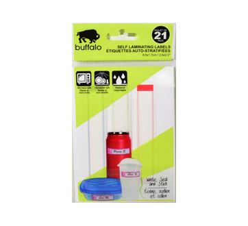 Étiquettes à  plastifier, 21 unités
