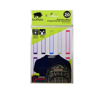 Étiquettes à textile, 20 unités