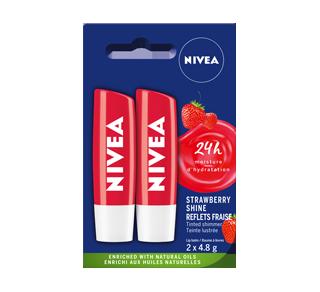 Reflets Fraise baumes à lèvres bienfaisant, 2 x 4,8 g