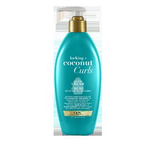 Noix de coco pour cheveux bouclés crème séchage à l'air libre, 177 ml