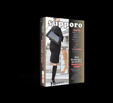 Image du produit Supporo - Bas genoux élastique ouvert aux orteils, 16-20 mmhg, moyen, 1 unité, beige
