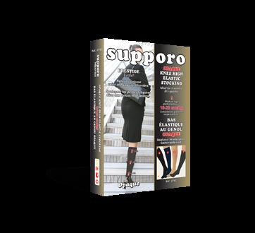 Image du produit Supporo - Bas genoux élastique opaque, 16-20 mmhg, moyen, 1 unité, beige