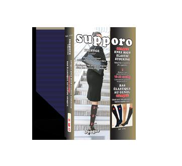 Image du produit Supporo - Bas genoux élastique opaque, 16-20 mmhg, très très grand, 1 unité, noir