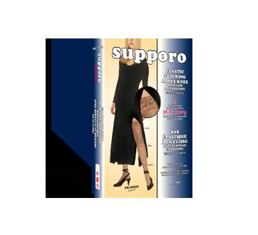 Image du produit Supporo - Bas élastique à la cuisse avec dentelle et silicone, , 1 unité, noir