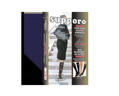 Image du produit Supporo - Bas genoux élastique opaque, 16-20 mmhg, grand, noir