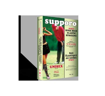 Image du produit Supporo - Bas genoux élastique unisexe 12-16 mmHg, moyen, 1 unité, noir