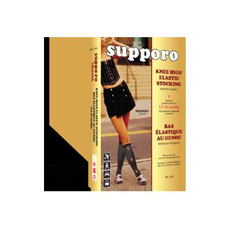 Image du produit Supporo - Bas genoux élastique pour femme, 12-16 mmhg, grand, 1 unité, noir