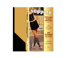 Image du produit Supporo - Bas genoux élastique pour femme, 12-16 mmhg, moyen, beige