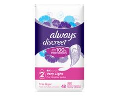 Image du produit Always - Discreet protège-dessous d'incontinence, absorption très légère, 48 unités, réguliers