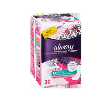 Image 2 du produit Always - Discreet protège-dessous d'incontinence, ultra-minces, 30 unités, réguliers