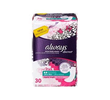 Image 3 du produit Always - Discreet protège-dessous d'incontinence, ultra-minces, 30 unités, réguliers