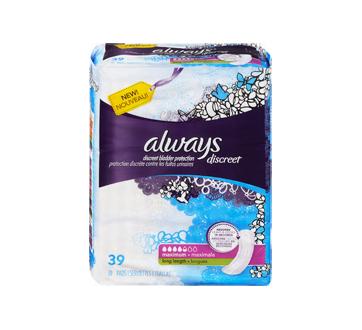 Image 3 du produit Always - Discreet protège-dessous d'incontinence, absorption maximale, 39 unités, longs