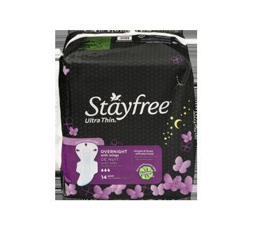 Image 4 du produit Stayfree - Ultra mince nuit avec ailes, 14 unités