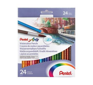 Arts crayons de couleur aquarellables, 12 unités