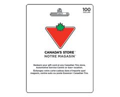 Image du produit Incomm - Carte-cadeau Canadian Tire de 100$, 1 unité