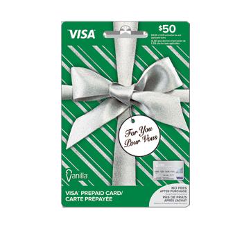 Carte prépayée Vanilla Visa de 50 $, 1 unité