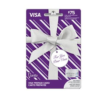 Carte prépayée Vanilla Visa de 75 $, 1 unité