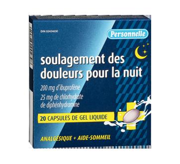 Image du produit Personnelle - Soulagement des douleurs pour la nuit, 20 unités