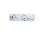 Boucles d-oreilles cube Cristal- 6mm