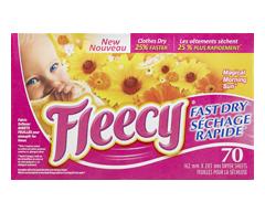 Image du produit Fleecy - Séchage Rapide assouplissant en feuilles, 70 unités, magie du soleil matinal