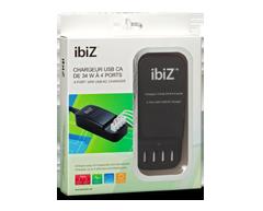 Image du produit ibiZ - Chargeur USB CA de 34 W à 4 ports