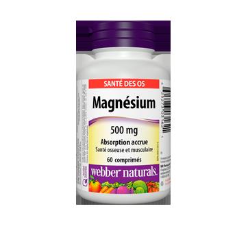 Image du produit Webber - Magnésium absorption accrue 500 mg, 60 unités
