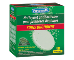 Image du produit Personnelle - Nettoyant antibactérien pour prothèses dentaires - Soins quotidiens, 40 comprimés