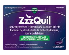 Image du produit Vicks - ZzzQuil LiquiCaps aide-sommeil nocturne, 12 unités