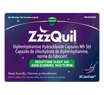 Image du produit Vicks - ZzzQuil LiquiCaps aide-sommeil nocturne, 36 unités