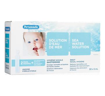 Image du produit Personnelle - Solution d'eau de mer, 30 x 5 ml