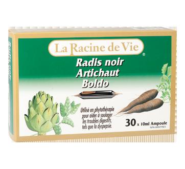 Image du produit La Racine de Vie - Radis noir Artichaut Boldo, 30 x 10ml