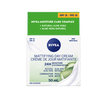 Essentials 24h Moisture Boost + Matte crème de jour FPS 15, 50 ml, peau mixte