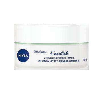 essentials 24h moisture boost matte cr me de jour fps 15 50 ml peau mixte nivea boutons. Black Bedroom Furniture Sets. Home Design Ideas
