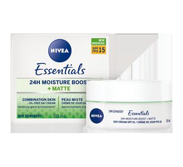 essentials 24h moisture boost matte cr me de jour sans huile fps 15 50 ml peau mixte nivea. Black Bedroom Furniture Sets. Home Design Ideas