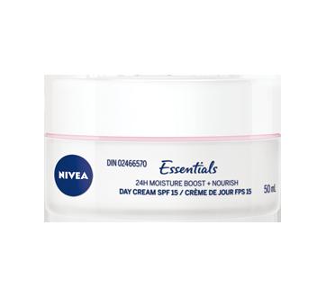 Image 2 du produit Nivea - Essentials 24h Moisture Boost + Nourish crème de jour FPS 15, 50 ml, peau sèche